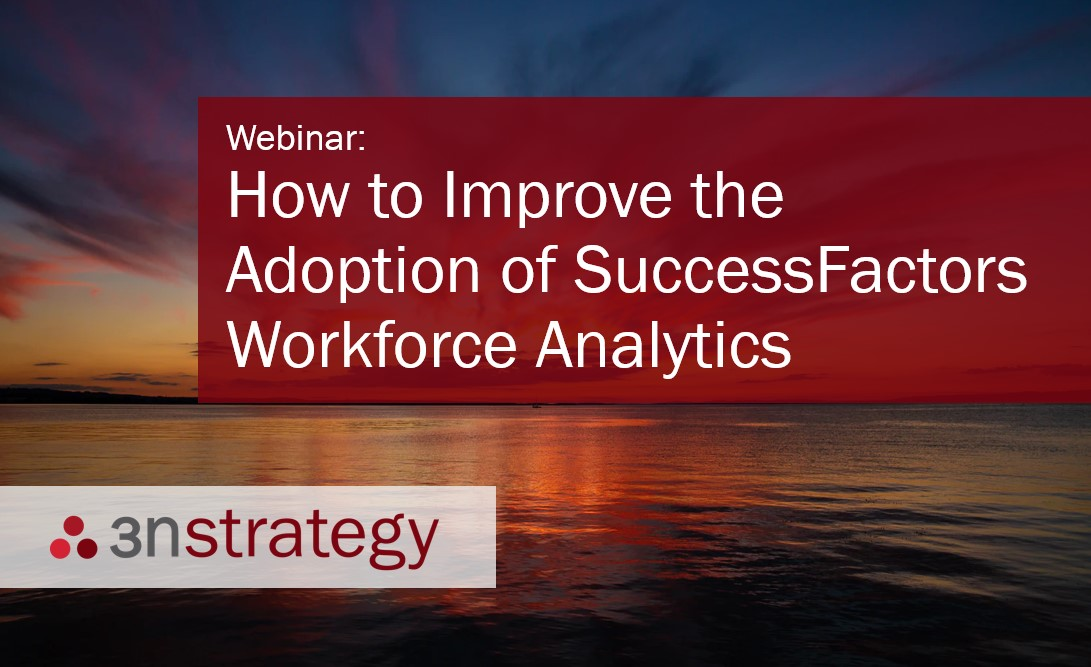 3n Strategy How to Improve the Adoption of SuccessFactors Workforce Analytics
